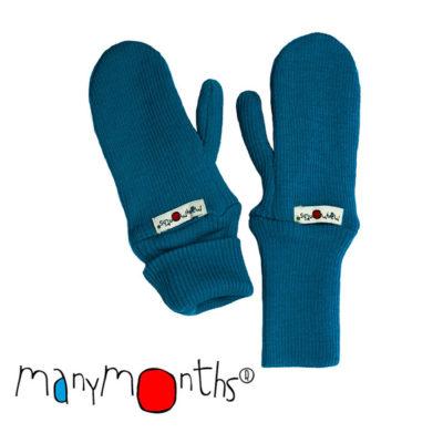 De Luierhoek, ManyMonths Natural Woollies Long Cuff Mittens, Mykonos Waters