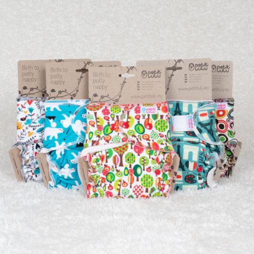 Klein voordeelpakket Petit Lulu Bamboe 5 stuks - De Luierhoek, wasbare luiers