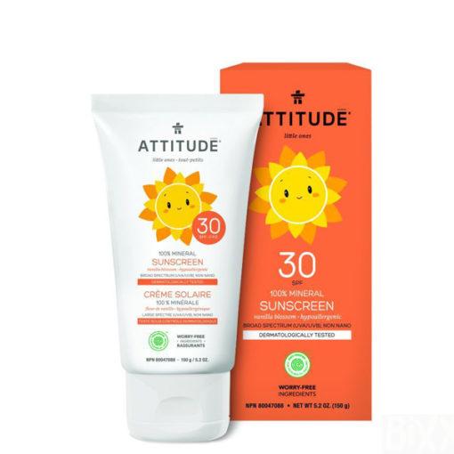 Attitude Little Ones Zonnecrème Vanille - De Luierhoek, natuurlijke verzorging