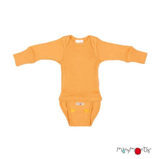 De Luierhoek, ManyMonths Natural Woolies Body-Shirt Long Sleeve, Golden Oat