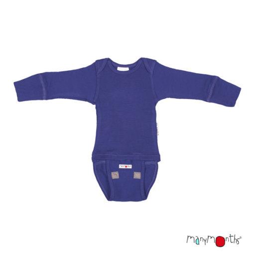De Luierhoek, ManyMonths Natural Woolies Body-Shirt Long Sleeve, Night Sky