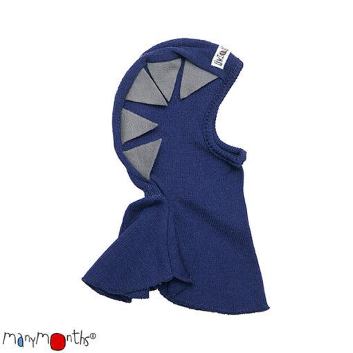 De Luierhoek, ManyMonths Natural Woollies, Dino Hood UNiQUE, Moonlight Blue