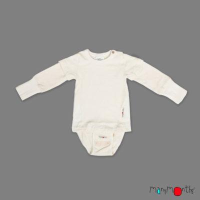 ManyMonths Eco Hempies Body-T-shirt Natural - De Luierhoek, natuurlijke verzorging