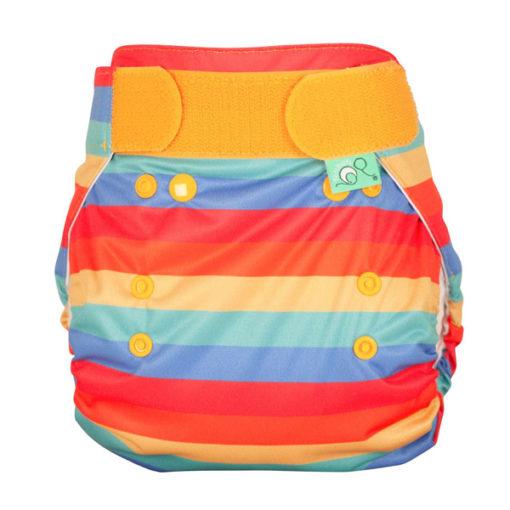 Totsbots Peenut Wrap Rainbow Stripe - De Luierhoek, wasbare luiers