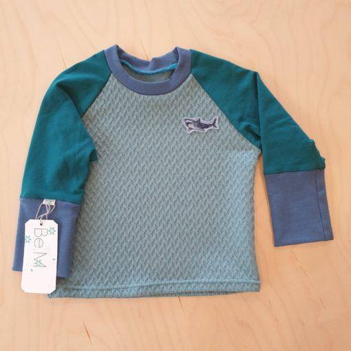 BEM Shirt Green with a shark