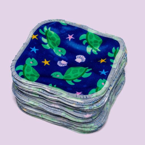 Cheeky Wipes Bamboe Minky doekjes Turtle - De Luierhoek, wasbare billendoekjes-1kopie