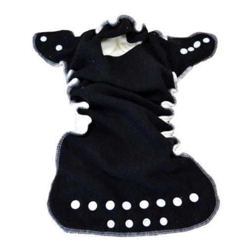 Lulu Nature Dodo zwart klaargemaakt - De Luierhoek, wasbare luiers