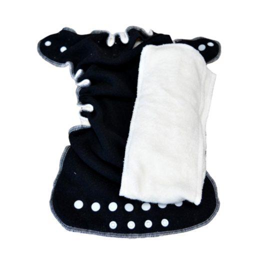 Lulu Nature Dodo zwarte binnenzijde - De Luierhoek, wasbare luiers