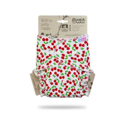 Petit Lulu Nachtluier Sweet Cherries - De Luierhoek, wasbare luiers