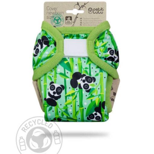 Petit Lulu Newborn overbroekje Panda Bears - De Luierhoek, wasbare luiers
