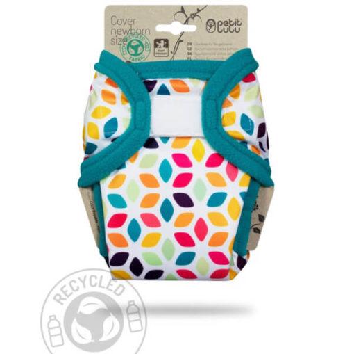 Petit Lulu Newborn overbroekje Floral Cubes - De Luierhoek, wasbare luiers